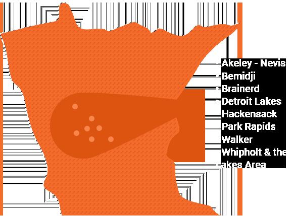 Servicing Akely-Nevis, Bemidji, Brainerd, Detroit Lakes, Hackensack, Park Rapids, Walker, Whipholt, & the Lakes Area